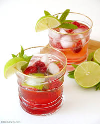 mojito cocktail raspberry mojito cocktail recipe party ideas party printables