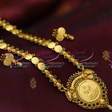 elegant gold necklace designs images Nl3970 indian traditional temple jewellery antique gold plated JPG