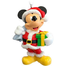hallmark disney mickey mouse as santa claus ornament walmart