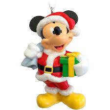 hallmark disney mickey mouse as santa claus ornament walmart