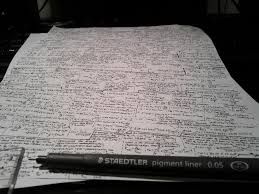 we are allowed to have one a4 sheet for notes in our exams this