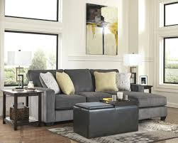 ottoman chaise lounge ottoman gray suede with left added