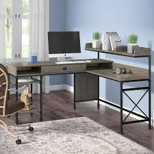 three posts oakside l shape computer desk with hutch u0026 reviews