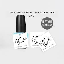 printable nail polish favor tags diy nail favor tags