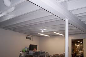 great tutorial on how to paint a basement ceiling unfinished