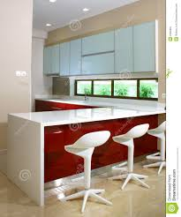 kitchen and bar counter stock image image of glass contemporary