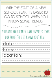 Invitation Card For New Year Back To Meet And Greet Invitation Card For Kids And Parents