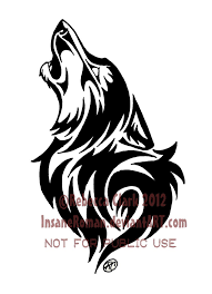 howling wolf tribal by insaneroman on deviantart