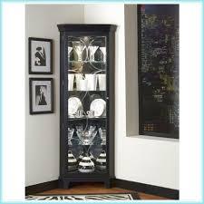 Kitchen Corner Cabinet Hinges Curio Cabinet Curio Cabinet Kits Baffling Black Color Wooden