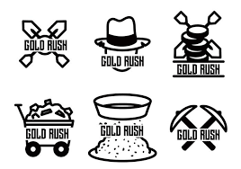 gold rush vector download free vector art stock graphics