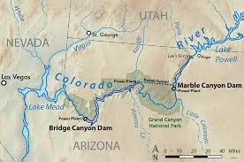 Map Of Grand Canyon Bridge Canyon Dam Wikipedia