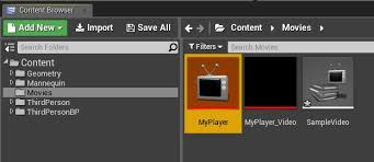 play a video file unreal engine