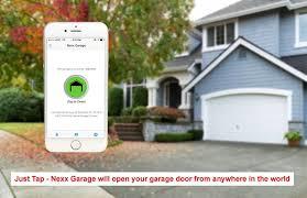 nexx garage smart remote garage door opener smart garage door