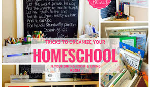 How To Organize Your Desk 7 Tricks To Organize Your Homeschool In Your Dining Room They