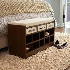 Storage Bench With Drawers Entryway Storage Bench Seat With Shoe Cubbies