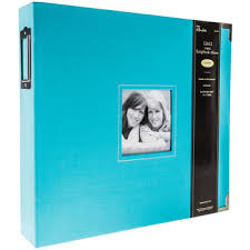 photo album 3 ring binder turquoise cloth 3 ring scrapbook album 12 x 12 hobby lobby