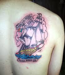 back shoulder tattoos men old ship tattoo on back shoulder ink addiction
