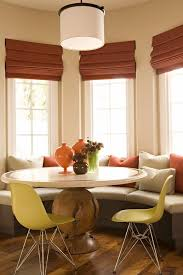 bay window breakfast nook dining room transitional with nelson