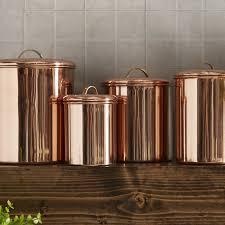 brown canister sets kitchen birch koppel 4 kitchen canister set reviews wayfair