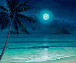 tropical beach paintings night archive thomas deir honolulu hi mokulua milky way beach painting