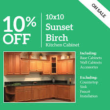 kitchen sink base cabinets sale 10 sunset birch 10x10 kitchen cabinet