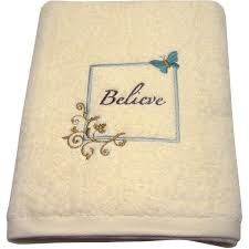 Kitchen Bath Collection by Mainstays Butterfly Blessing Decorative Bath Towel Collection