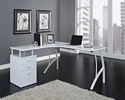 Modern White Office Desks Beguiling Dark Brown Wooden Corner Study Desks Grey Wall Paint