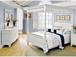 Bedroom Set With Canopy Bed Bedroom Sets Interesting Stylish Queen Size White Polished