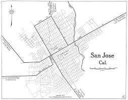 san jose library map california maps perry castañeda map collection ut library