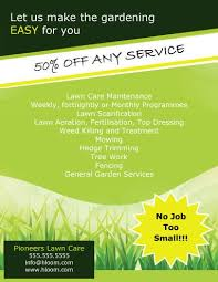 welcome brochure template 15 lawn care flyers free exles advertising ideas