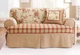 2 piece t cushion sofa slipcover sofa slipcover t cushion ebay