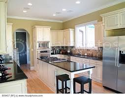 Kitchen White Cabinets Black Countertops Kitchen White Cabinets Black Appliances Photo 1 Kitchens With A