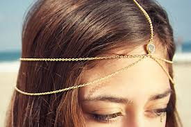hair chains drusy druzy quartz gold vermeil wedding chain headpiece