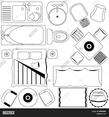 a set of simple vector icons simple furniture floor plan a set of simple vector icons simple furniture floor plan outline
