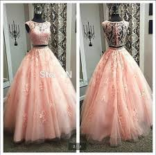 online shop peach prom dresses ball gowns two piece prom dress