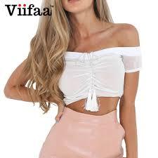 aliexpress com buy viifaa drawstring white crop top camisole