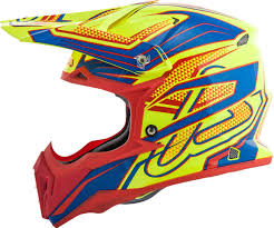 orange motocross helmet acerbis impact 3 0 motocross helmet helmets offroad yellow blue