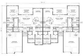 three plex floor plans 3 bedroom duplex floor plans house plans and home plans by