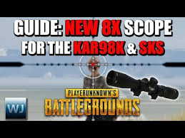 pubg 4x guide download video guide how to use the new 8x scope for the kar98k