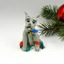 pitbull american bulldog bluenose ornament figurine