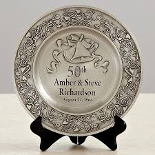 50th wedding anniversary plate anniversary pewter plate 70th anniversary plates
