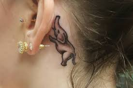 ghost tattoos 21 insanely creative behind the ear tattoos tlcme tlc