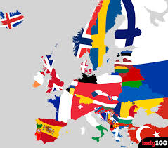 Europe Capitals Map by This Flag Map Of Europe Is A Thing Of Beauty Indy100