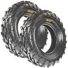 set pair of 2 sunf 25x10 12 25x10x12 rear atv utv tires 6 pr a010