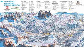 Piste Maps For Italian Ski by Val Gardena Piste Map