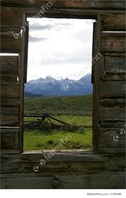 old window frame photo