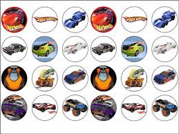 cars cake toppers 24 x hot wheels cars rice wafer cake toppers 1 6