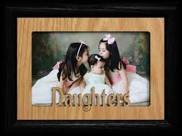 amazon com 5x7 daughters landscape black picture frame holds