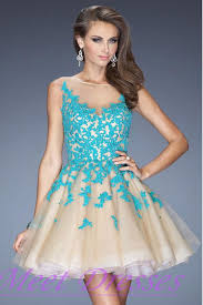 free shipping cheap new tulle teal applique 2015 short prom