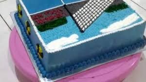 cake theme the field volleyball youtube
